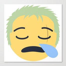 Roronoa Zoro Emoji Design Canvas Print