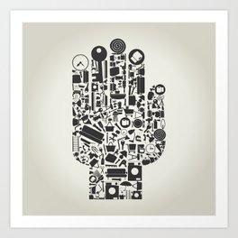 Hand house subjects Art Print