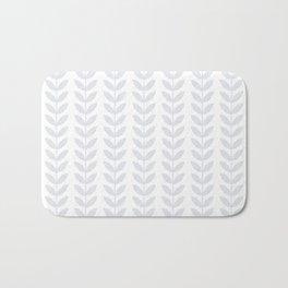Light Grey Scandinavian leaves pattern Bath Mat