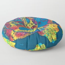 Mermaid Musings Floor Pillow