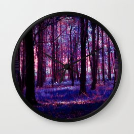 Abstract Forest Wall Clock