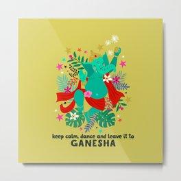Ganeshas Dance Metal Print