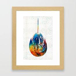Colorful Horseshoe Crab Art by Sharon Cummings Framed Art Print