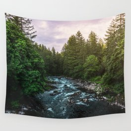 PNW River Run II - Pacific Northwest Nature Photography Wall Tapestry