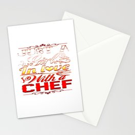 In love with a Chef Stationery Cards