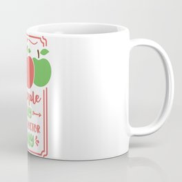 an apple a day keeps doctor away Coffee Mug