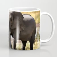 elephants Mugs featuring Elephants by Regan's World