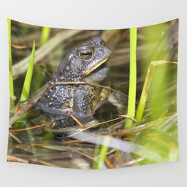 Toad in the pond Wall Tapestry
