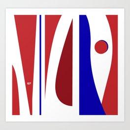 Dancing - Red and Blue #minimal #art #design #kirovair #buyart #decor #home Art Print