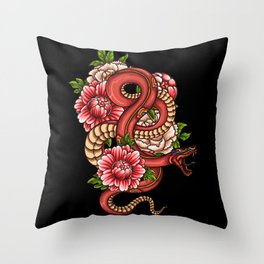 Asian Snake Gift Idea Design Animal Motif Throw Pillow