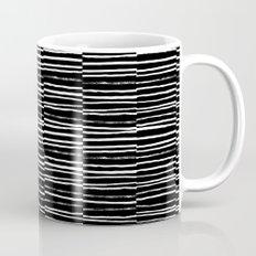 Paint brush free spirit pattern boho minimal black and white modern art abstract painting urban deco Mug