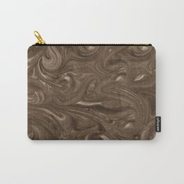 Rich Chocolate Brown Swirl Carry-All Pouch