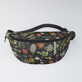 Dark Floral Sketchbook Fanny Pack