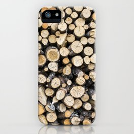Log Pile iPhone Case