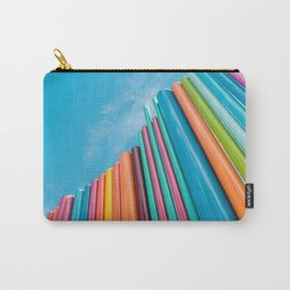 Colorful Rainbow Pipes Against Blue Sky Carry-All Pouch