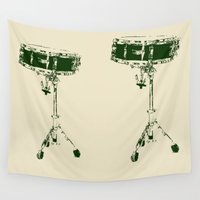 drum Wall Tapestries featuring Snare Drum  by MillennialBrake