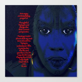 Angry Black Woman Canvas Print
