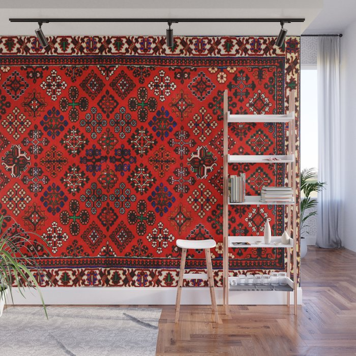 . A30  Red Epic Traditional Moroccan Carpet Design  Wall Mural by arteresting