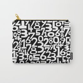 Monochrome numbers Carry-All Pouch