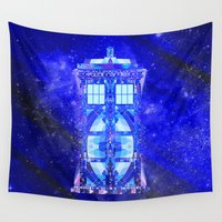 tardis Wall Tapestries featuring The Tardis by Fimbis