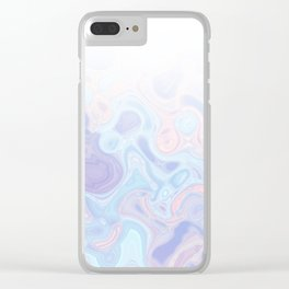 Liquid Pastel Marble Ombre 1. lilac, nude and aqua #pastelvibes #homedecor #buyart Clear iPhone Case