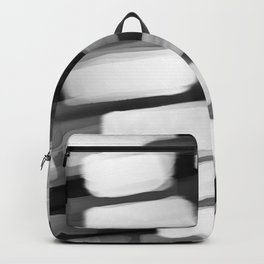 Racing City Lights - Black and White Backpack