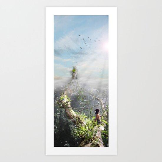 CLIMBING BUBBLES Art Print