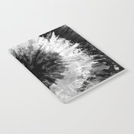 Black and White Tie Dye // Painted // Multi Media Notebook