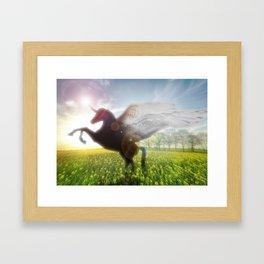 Unicorn Sunrise Framed Art Print
