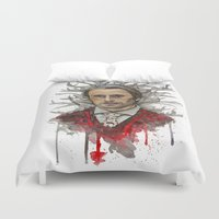 hannibal Duvet Covers featuring Shika (Hannibal) by Studio of M.M