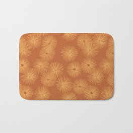Orange Nasturtium Seamless Patten Bath Mat