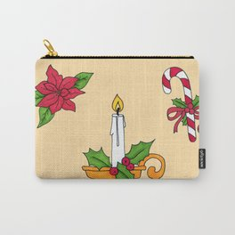 Merry Christmas! (yellow) Carry-All Pouch
