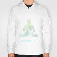 namaste Hoodies featuring Namaste by Berengere Ducoms