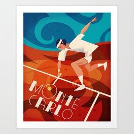 Vintage Tennis Poster Art Print
