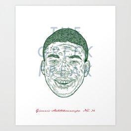 The Greek Freak Art Print