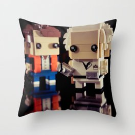 """""""Doc, where the heck is the delorean?!"""" Throw Pillow"""