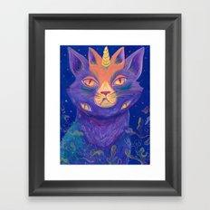 Galactic Kitties: Topaz Framed Art Print