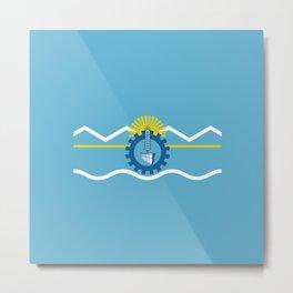 flag of Chubut Metal Print