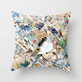 VINTAGE SKI Throw Pillow