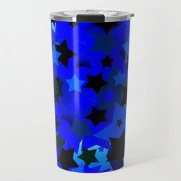 Punk Rock Stars Blue Travel Mug