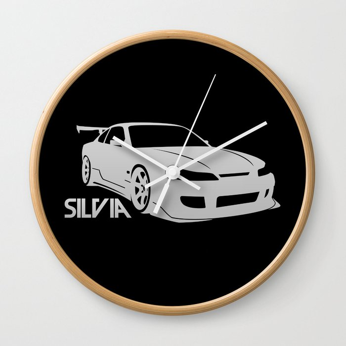 Nissan Silvia S15   Silver   Wall Clock