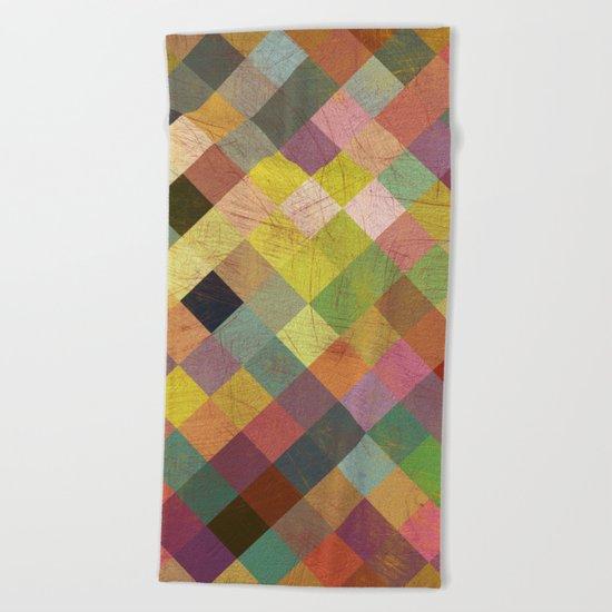 Aztec Vintage Pattern 06 Beach Towel