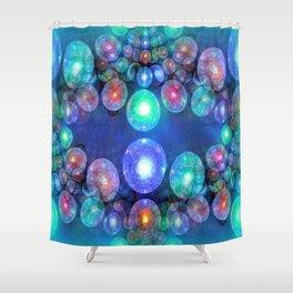 Balls of Light - Fractal Shower Curtain
