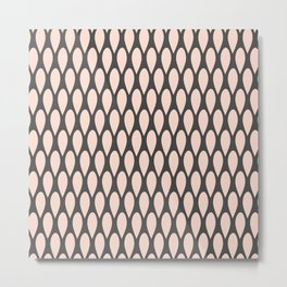 Abstract Rain Pattern Metal Print