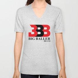 Big Baller Brand in red black Unisex V-Neck