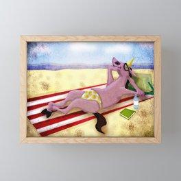 Itsy Bitsy Teenie Weenie Yellow Polka Dot Thong Unicorn Framed Mini Art Print