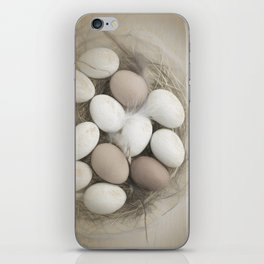 Sketch of eggs in a nest iPhone Skin
