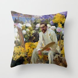 "Joaquín Sorolla y Bastida ""Portrait of Louis Comfort Tiffany"", 1911 Throw Pillow"