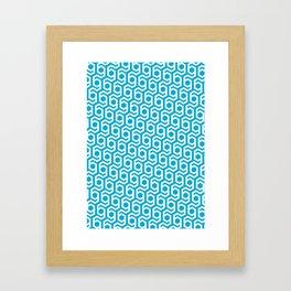 Modern Hive Geometric Repeat Pattern Framed Art Print