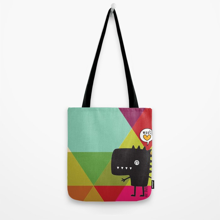 Woot! (Happy Dinosaur) Tote Bag